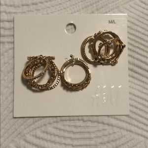 New gold rings set!